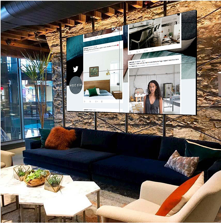 West elm digital display wall