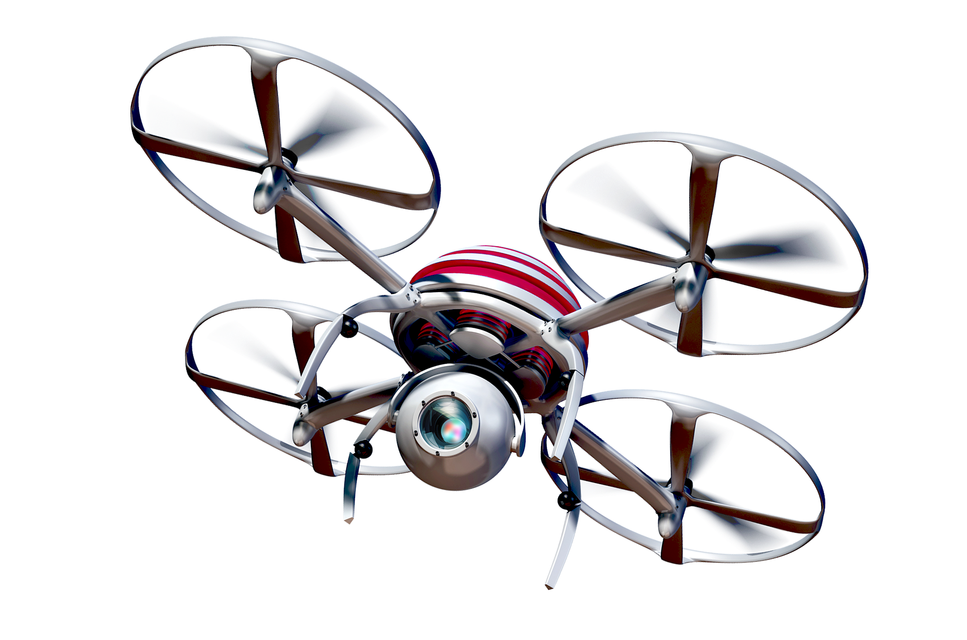 quadcopter flying telemedicine camera drone